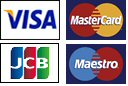 We accept Visa, Maestro, Mastercard and JCB